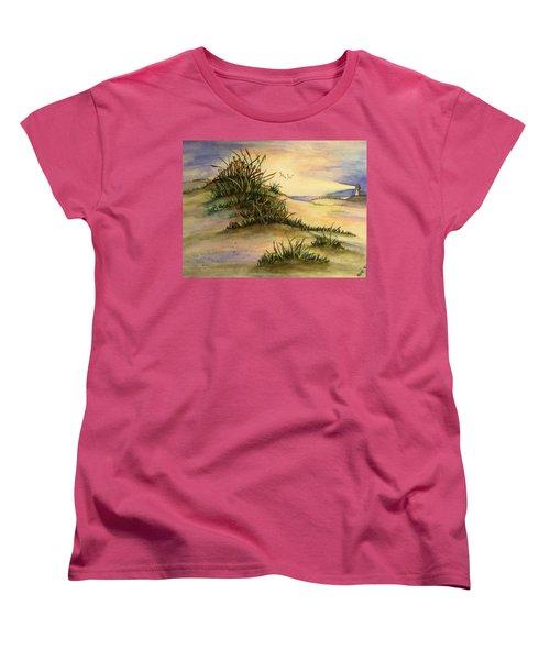 A Day At The Beach Women's T-Shirt (Standard Cut) by Hae Kim