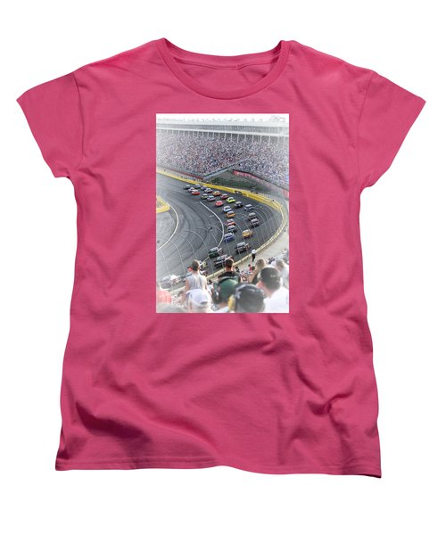 A Day At The Racetrack Women's T-Shirt (Standard Cut) by Karol Livote