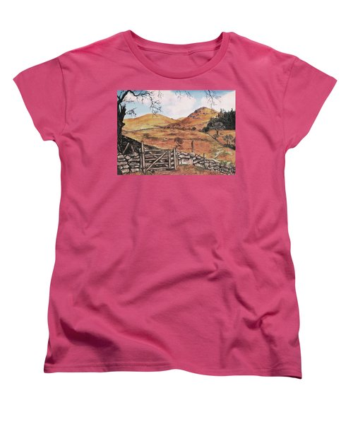 Women's T-Shirt (Standard Cut) featuring the painting A Day In The Country by Sophia Schmierer