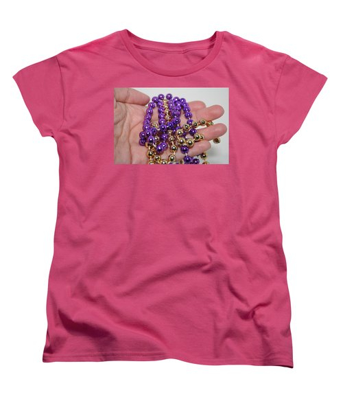 Women's T-Shirt (Standard Cut) featuring the photograph A Handful Of Beads by Ester  Rogers