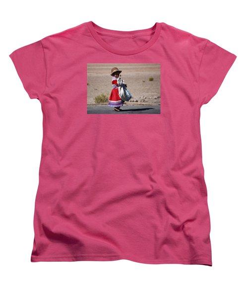 A Little Girl In The  High Plain Women's T-Shirt (Standard Cut) by RicardMN Photography