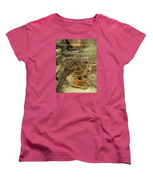 A Long Way Women's T-Shirt (Standard Cut) by Simona Ghidini