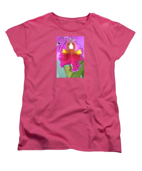 A Purple Cattelaya  Orchid Women's T-Shirt (Standard Cut) by Lehua Pekelo-Stearns