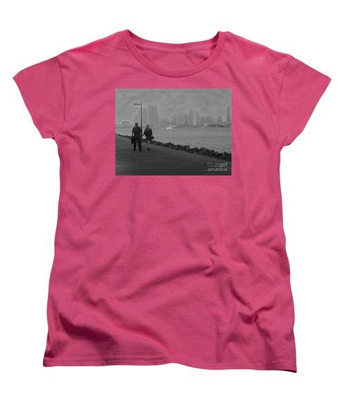 A Romantic Walk 2 Women's T-Shirt (Standard Cut) by Claudia Ellis