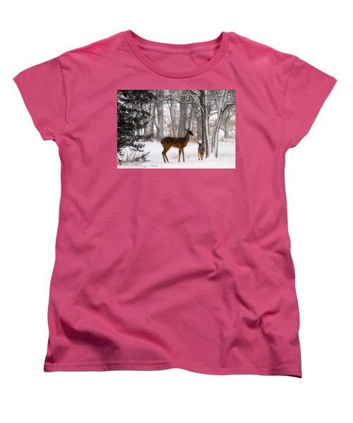 A Snowy Path Women's T-Shirt (Standard Cut) by Elizabeth Winter