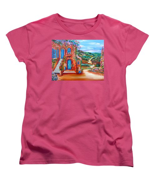 Women's T-Shirt (Standard Cut) featuring the painting A Sunny Day In Chianti Tuscany by Roberto Gagliardi