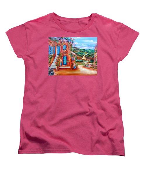 A Sunny Day In Chianti Tuscany Women's T-Shirt (Standard Cut) by Roberto Gagliardi