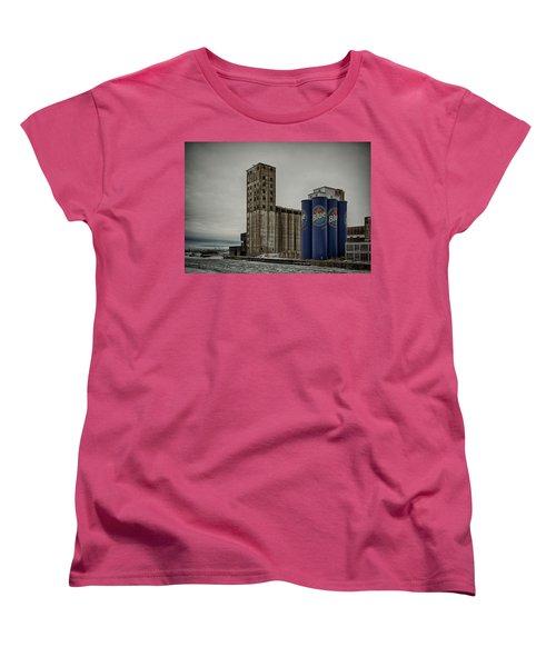 A Tall Blue Six-pack Women's T-Shirt (Standard Cut) by Guy Whiteley