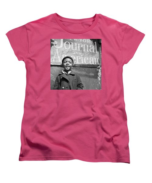 A Young Harlem Newsboy Women's T-Shirt (Standard Cut) by Underwood Archives