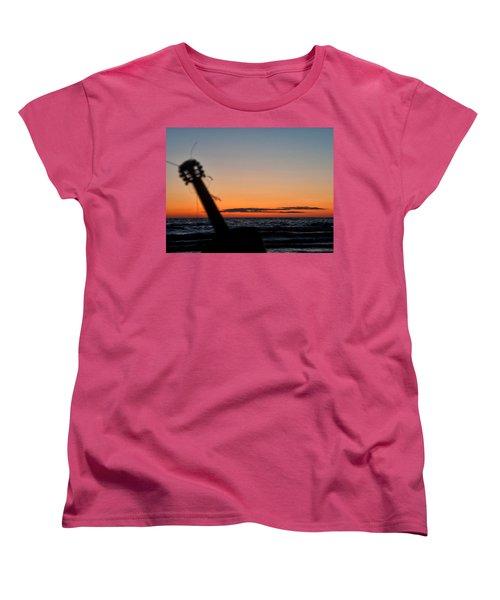 Acoustic Guitar On The Beach Women's T-Shirt (Standard Cut) by Mike Santis