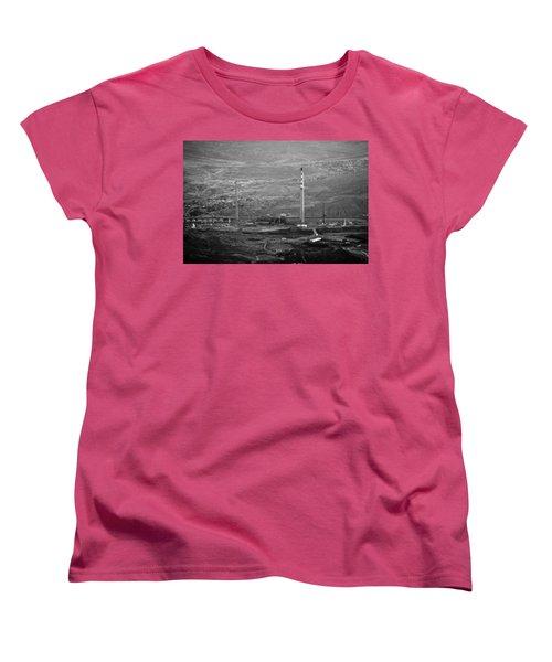 Abandoned Smokestacks Women's T-Shirt (Standard Cut) by Melinda Ledsome