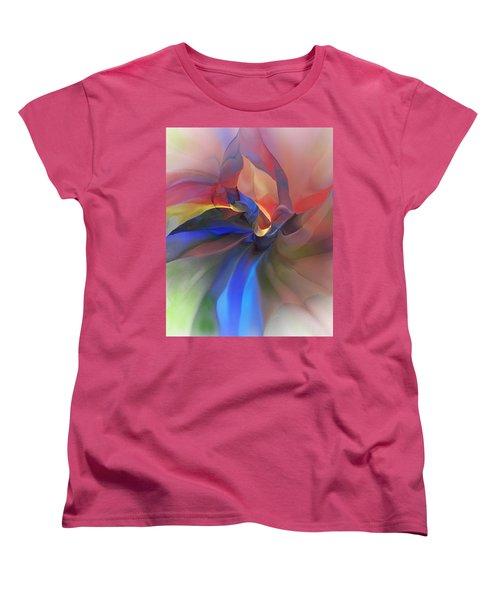 Women's T-Shirt (Standard Cut) featuring the digital art Abstract 121214 by David Lane
