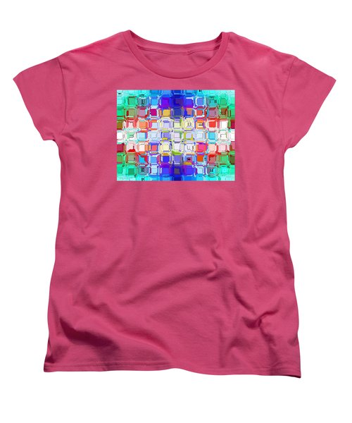 Women's T-Shirt (Standard Cut) featuring the digital art Abstract Color Blocks by Anita Lewis