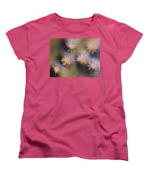 Abstract Yellow Flowers Women's T-Shirt (Standard Cut)