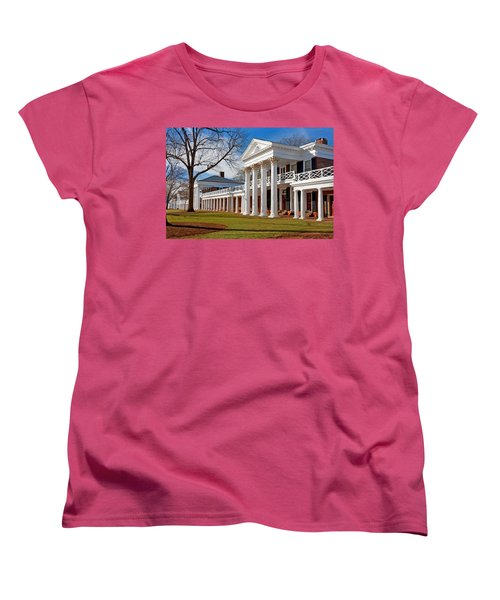 Academical Village At The University Of Virginia Women's T-Shirt (Standard Cut) by Melinda Fawver