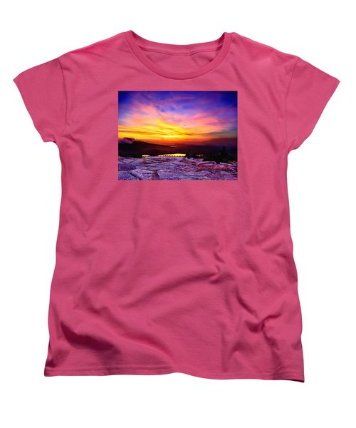 Acadia National Park Cadillac Mountain Sunrise Forsale Women's T-Shirt (Standard Cut) by Bob and Nadine Johnston