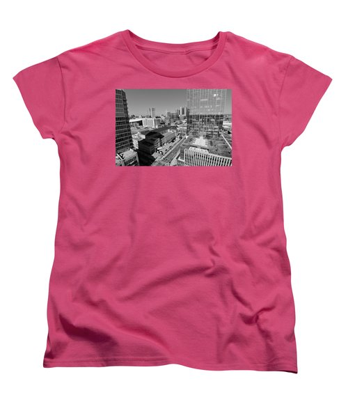 Aerial Photography Downtown Nashville Women's T-Shirt (Standard Cut) by Dan Sproul