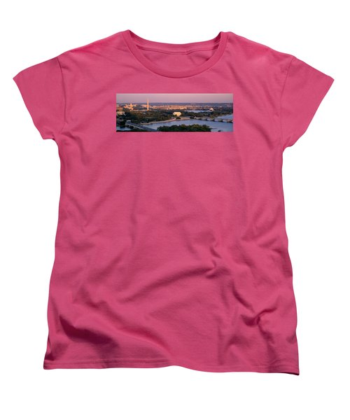 Aerial, Washington Dc, District Of Women's T-Shirt (Standard Cut) by Panoramic Images