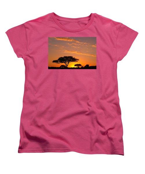 African Sunset Women's T-Shirt (Standard Cut) by Sebastian Musial