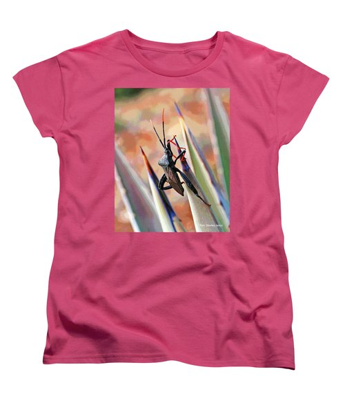 Women's T-Shirt (Standard Cut) featuring the photograph Agave Bug  by Tom Janca