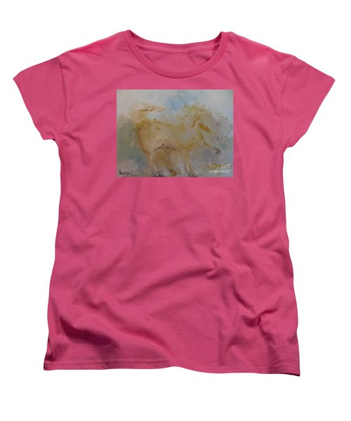 Women's T-Shirt (Standard Cut) featuring the painting Airwalking by Laurie L