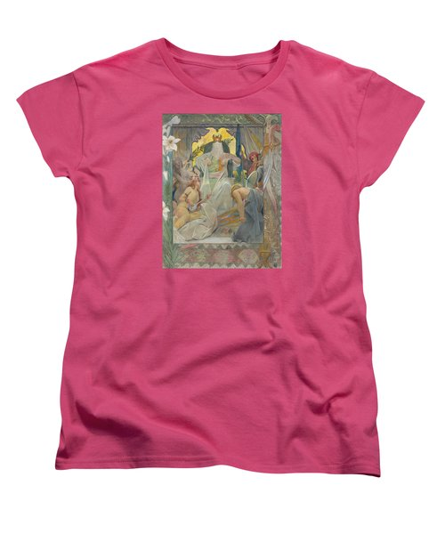 Women's T-Shirt (Standard Cut) featuring the painting Arabian Nights By Andre Castaigne by Antique Art