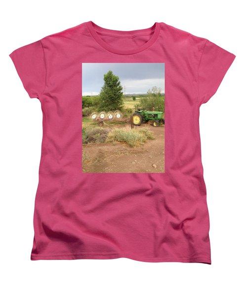 Women's T-Shirt (Standard Cut) featuring the photograph Alfalfa Time by Erika Chamberlin