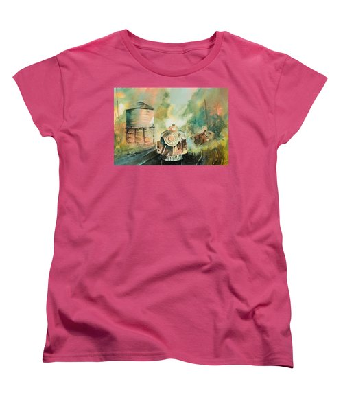All Aboard Women's T-Shirt (Standard Cut) by Lee Beuther