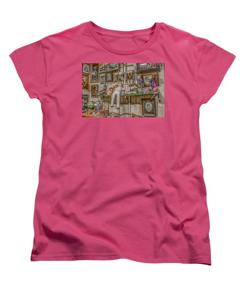 Women's T-Shirt (Standard Cut) featuring the photograph All By My Shelf by Ray Congrove