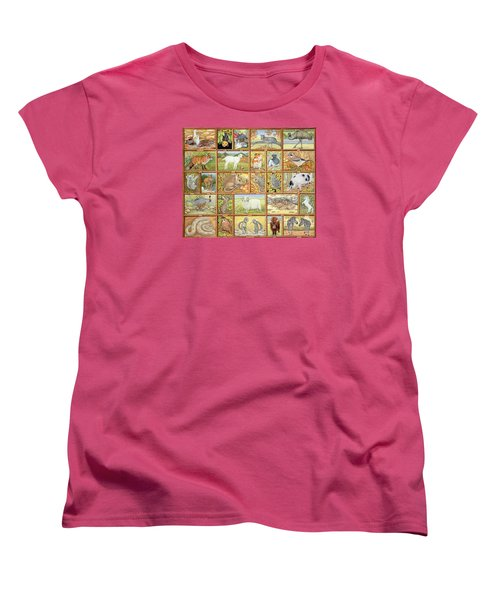 Alphabetical Animals Women's T-Shirt (Standard Cut) by Ditz
