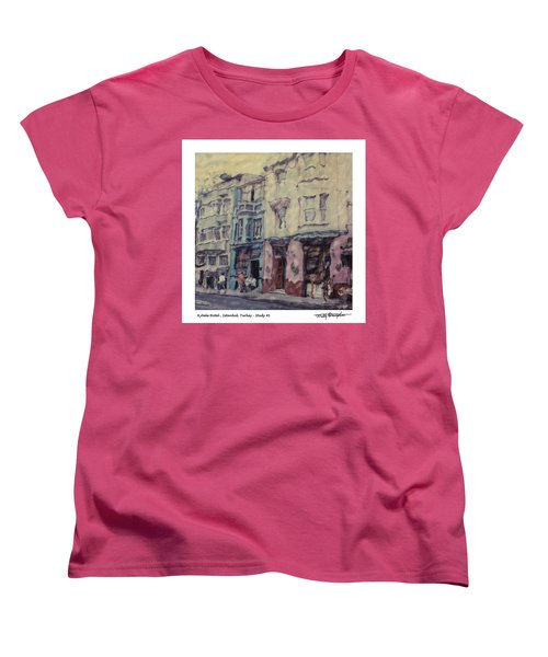 Altered Polaroid - Kybele Hotel 1 Women's T-Shirt (Standard Cut) by Wally Hampton