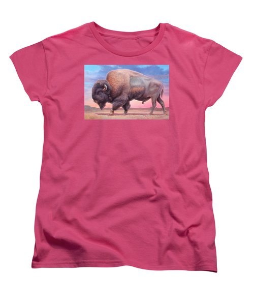 American Buffalo Women's T-Shirt (Standard Cut) by Hans Droog