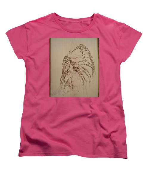 American Horse - Oglala Sioux Chief - 1880 Women's T-Shirt (Standard Cut) by Sean Connolly
