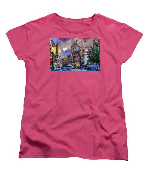 Amsterdam Daily Life Women's T-Shirt (Standard Cut) by Georgi Dimitrov