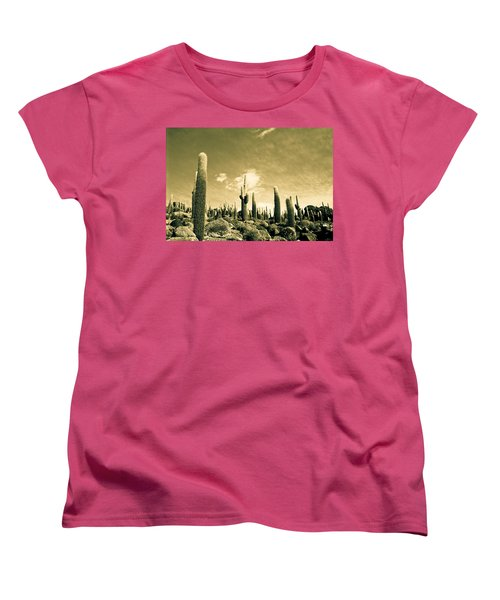 Women's T-Shirt (Standard Cut) featuring the photograph Ancient Giants by Lana Enderle