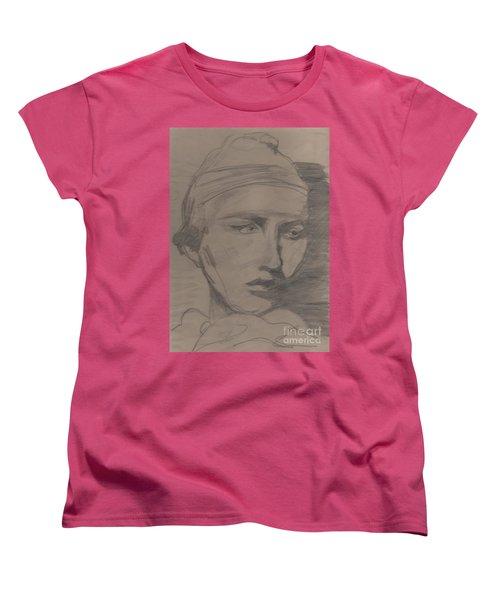 Women's T-Shirt (Standard Cut) featuring the drawing Antigone By Jrr by First Star Art