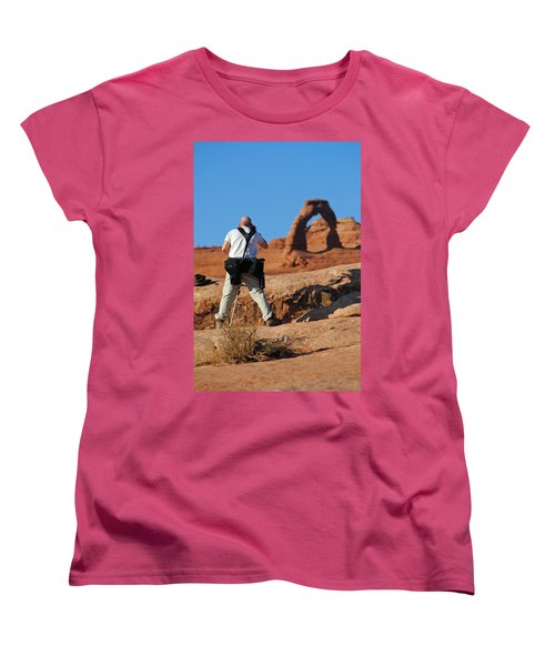 Women's T-Shirt (Standard Cut) featuring the photograph Arches Np 27 by Jeff Brunton