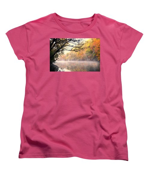 Women's T-Shirt (Standard Cut) featuring the photograph Arching Tree On The Current River by Marty Koch