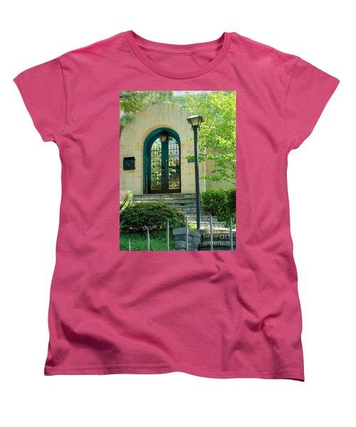 Archway In Swan Lake Women's T-Shirt (Standard Cut) by Janette Boyd