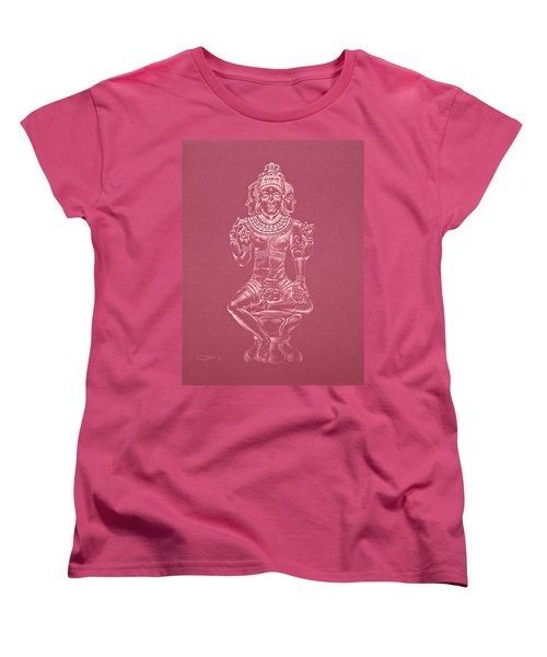 Women's T-Shirt (Standard Cut) featuring the drawing Ardhanarishvara II by Michele Myers