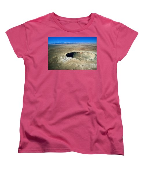 Arizona Meteor Crater Women's T-Shirt (Standard Cut) by Pg Reproductions