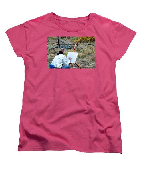 Artist Point Women's T-Shirt (Standard Cut) by Jim Garrison