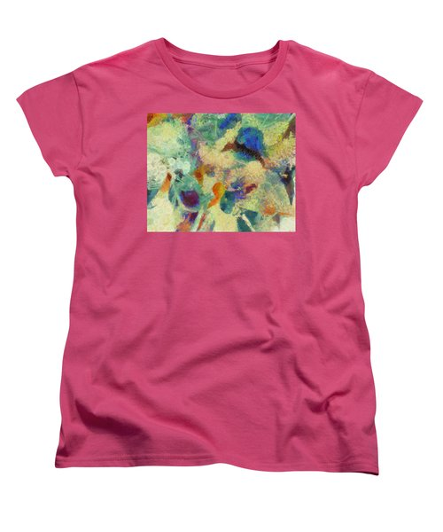 Women's T-Shirt (Standard Cut) featuring the painting As Our Eyes Met by Joe Misrasi