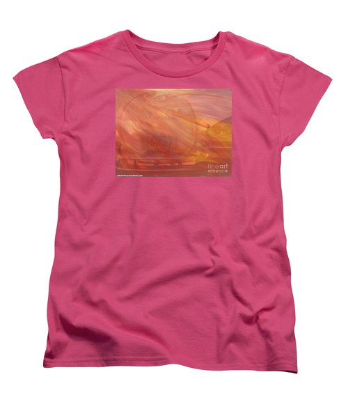 Women's T-Shirt (Standard Cut) featuring the painting Asteroid by PainterArtist FIN