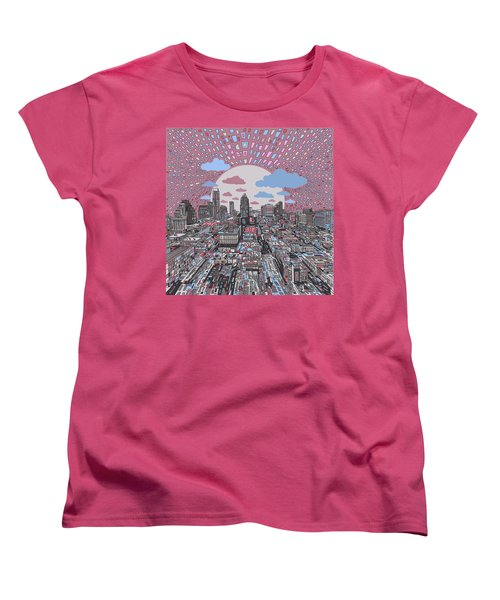 Austin Texas Abstract Panorama 3 Women's T-Shirt (Standard Cut) by Bekim Art