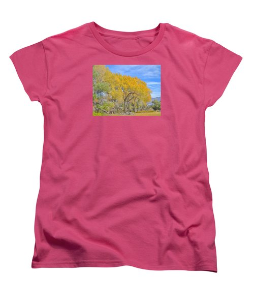 Women's T-Shirt (Standard Cut) featuring the photograph Autumn Colors by Marilyn Diaz