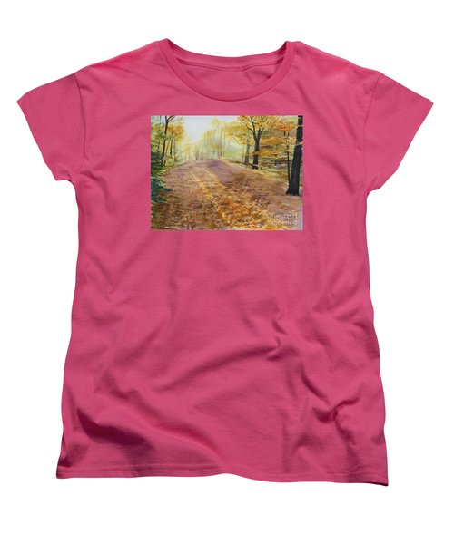 Autumn Sunday Morning Women's T-Shirt (Standard Cut) by Martin Howard