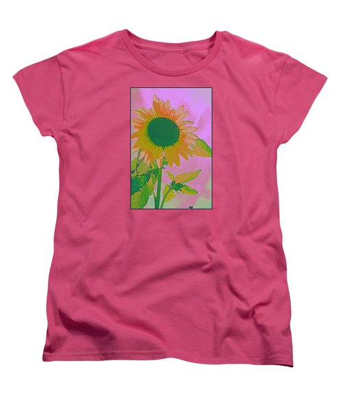 Autumn's Sunflower Pop Art Women's T-Shirt (Standard Cut) by Dora Sofia Caputo Photographic Art and Design