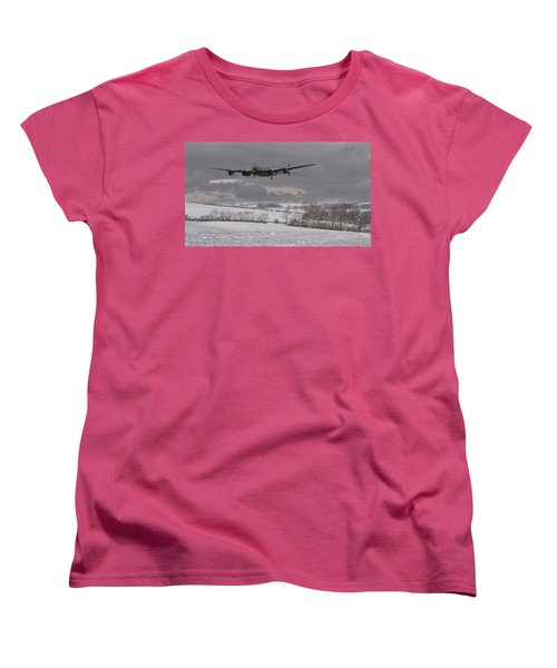 Avro Lancaster - Limping Home Women's T-Shirt (Standard Cut) by Pat Speirs