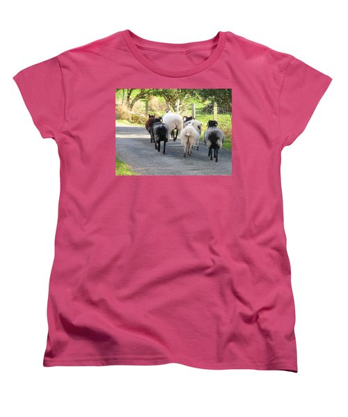 Women's T-Shirt (Standard Cut) featuring the photograph Ba Ba Blacksheep by Suzanne Oesterling